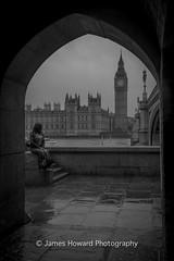 London - Westminster (jameshowardphotography) Tags: westminster london big ben tunnel arch architecture architec bridge building capital mono monochrome black white portrait water