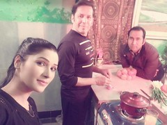 Rohid Ali Khan and Zara Malik in kitchen (Rohid Ali Khan) Tags: rohid ali khan maproductions mapro zara malik adhoorey khuwaab shahid sheikh khalid butt romantic song pehli muhabbat khanpur dam pakistani actor bollywood insight movie