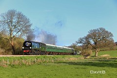2nd April 2017. Bulleid Gala at the Swanage Railway. (Dangerous44) Tags: swanage railway steam locomotive bulleid 34070 manston dickers crossing