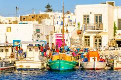 Naousa Harbour, Paros (Kevin R Thornton) Tags: naousa d90 mediterranean greece nikon fishingboats travel paros gr