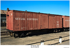 NN Boxcar 1025 (Robert W. Thomson) Tags: nn nevadanorthern boxcar traincar railcar rollingstock train trains trainengine railroad railway ely nevada