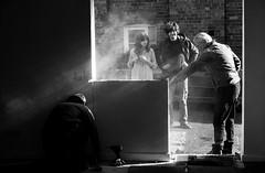 The Work Begins (jayneboo) Tags: 365 family dan vici gra scotty building door window businessunit bw mono opening odc industrious
