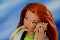 the sound of the waves (photos4dreams) Tags: yesicanheartheseap4d icanheartheseap4d yes barbie doll puppe mattel photos4dreams p4d photos4dreamz red rot readhead long hair lange haare toy dress barbies girl play fashion fashionistas outfit kleider mode kayla morgaine
