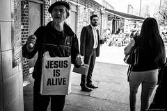 ...I've met him on the bus.. (jrockar) Tags: street streetphoto streetphotography bw mono blackandwhite ordinarymadness ordinary madness london leytonstone jesusisalive jesus isalive alive jrockar janrockar idiot candid moment instant snap shot decisive fuji x100f holyf man guy people city urban