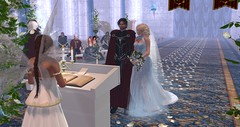 Avilion Nexus - Camelot - Wedding Lady Vyahen and Sir Bardy (Osiris LeShelle) Tags: secondlife second life avilion nexus camelot wedding ceremony medieval fantasy roleplay bardy vyahen