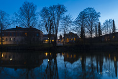 Nyköpingsån, Nyköping, Sweden (Kaj Eriksson) Tags: nyköping nyköpingsån södermanland sweden longexposure evening night