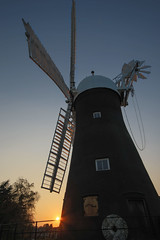 Holgate Windmill, April 2017 - 3 (nican45) Tags: 08042017 1020 1020mm 1020mmf456exdc 2017 8april2017 april canon dslr eos70d hdr hwps holgate holgatewindmill sigma york yorkshire bracketed evening fantail mill sail sails silhouette spring sunset wideangle windmill