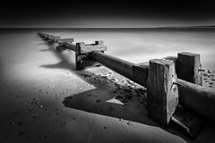 In the pipe line (dannyhow2011) Tags: blyth northumberland beach industry pipe blackandwhite longexposure