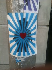 MELROSE (Cathode Ray Gun) Tags: street art los stencil heart angeles stickers melrose hollywood