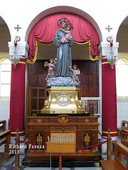 Saint Anthony of Padova (fajjenzu) Tags: sculpture church statue feast faith religion malta spirituality convent friar franciscan saintanthony birkirkara