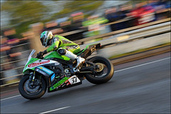 NW200 2013 James Hillier (Eggy Boil) Tags: road wet evening roundabout link thursday damp superstock 2013 nw200 ballysally