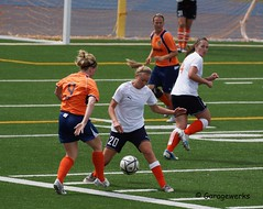 Quad City Eagles vs Kansas City Shock Soccer (Garagewerks) Tags: woman sport female all child adult soccer sony kansascity shock 70300mm tamron eagles quadcity f456 slta65v quadcityeagles kansascityshock
