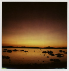 Dawn (tobysx70) Tags: california ca door light toby summer lake color slr film water silhouette project polaroid sx70 dawn mono three highway glow gull nevada july first flags sierra hwy tip shade week rollers hancock eastern protection tufa slr680 680 impossible 395 roid the px 2013 roidweek colorshade frankenroid 71413 theimpossibleproject px680 polawalk tobyhancock impossaroid polaroadtrip