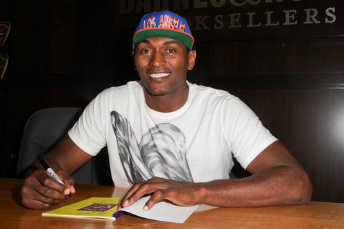 Metta World Peace promoting his childrens book Mettas Bedtime Stories