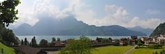 A panorama from Sisikon (Lanfranch) Tags: europa stitched germania vierwaldstttersee schwaben alemannia schweizerischeeidgenossenschaft confederazionesvizzera lagodilucerna suebia