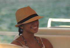 Sarah Under a Hat (See El Photo) Tags: california ca vacation arizona people 15fav favorite woman holiday hot color colour cute water girl beautiful smile face hat cali sarah lady digital canon river geotagged fun outside outdoors person eos rebel boat nice women friend colorful pretty colore sweet teeth border young tan earring az cutie gal coloradoriver grin belle fedora hottie bella fav hermoso brunette straps couleur parker goodtimes freshwater belo faved 500d bellissima  sholders   t1i