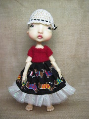 New dress for Estelle. (lovetherain-gina) Tags: ball doll bjd kane humpty jointed nefer lovetherain