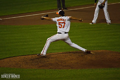 Francisco Rodriguez (Scenes of Madness Photography) Tags: park new york yards photography major nikon francisco baseball camden maryland baltimore september madness yankees scenes orioles league 57 rodriguez mlb oriole 2013 d3200 opacy