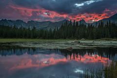 Sinopia (Bill Bowman) Tags: sunset day cloudy rockymountains frontrange indianpeaks redrocklake niwotridge sinopia