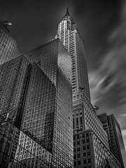 Chrysler Building b&w II (Daniel Schwabe) Tags: nyc bw usa ny reflection building tower glass skyscraper manhattan chryslerbuilding elitegalleryaoi