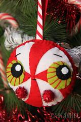 Peppermint candy (Ana Camamiel) Tags: christmas adorno cute navidad candy handmade ooak felt ornament caramelo fieltro pepermint