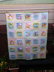 Completed Baby Quilt for my niece - Molly (Fiona Forsyth (Bendigo Lioness)) Tags: baby child quilt sewing nursery craft cotton quilting crib material cot