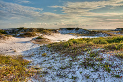 Dune Shadows (grandalloliver) Tags: world ocean sea summer vacation sun seascape color art beach water beauty clouds photoshop canon landscape sand flora october raw day gulf florida cloudy wideangle tiff hdr topaz photoshopelements floridastatepark hss photomatix emeraldcoast canonefs1755mmf28usm garyoliver southwaltoncounty hwy30a rebelxsi canonxsi topazadjust grandalloliver grandalloliverphoto beachesofsouthwaltoncounty topsailhillstateparkflorida
