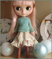 3. Sparkling - Blythe a Day December (pacific_rin) Tags: doll sparkle blythe handknitting stellasavannah