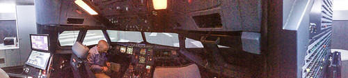Airbus A320 simulator flight deck