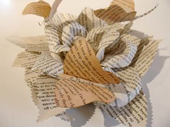 ALtered book: Rose (Isabell Buenz) Tags: paper paperart book scotland bookart alteredbooks bookpages buenz isabellbuenz bookweekscotland