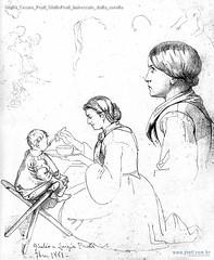 Giulio Cesare Prati GiulioPrati imboccato dalla sorella