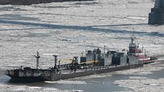 Between the Bridges (blazer8696) Tags: usa ny newyork river boat unitedstates poughkeepsie tugboat hudson delaware tug barge pathfinder woth 2014 ecw img1460 highlandlanding t2014