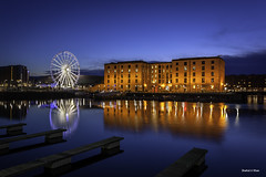 Albert dock, liverpool England (Shahid A Khan) Tags: city uk travel light england sky urban building tourism nature water wheel horizontal skyline architecture night liverpool buildings river pier canal twilight dock cityscape waterfront view northwest unitedkingdom britain background albert stock cities culture places landmark images tourist panoramic quay illuminated warehouse ferriswheel british bluehour quays citycentre 1740 mersey foreground quayside merseyside dockside descriptivewords canon5dmark2 shahidakhan sakhanphotography vision:street=0533 vision:outdoor=0809 vision:sky=0972 vision:clouds=0639 vision:dark=0887 wwwgalleryskcom