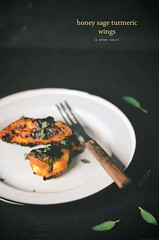 honey sage turmeric wings (abrowntable) Tags: food chicken recipe wings chili oven herbs sage honey poultry snack recipes oliveoil appetizers turmeric baked foodphotography abrowntable