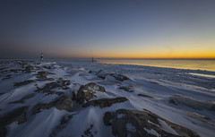 Night Turns to Day (olsonj) Tags: morning light snow ice lakemichigan