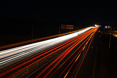 carretera nocturna (O.Quiroz) Tags: highway lighttrail