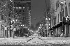 Portland Snow storm (Justin_Watts) Tags: winter blackandwhite bw white snow black oregon canon portland nikon 7d 5d bandw 6d t4i 5dii 5diii