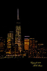 Freedom Tower & Downtown New York City Night View from Weehawken NJ (takegoro) Tags: york night buildings landscape lights skyscrapers views hudsonriver new city freedomtower manhattan {vision}:{sky}=0537 {vision}:{outdoor}=097 {vision}:{dark}=0957
