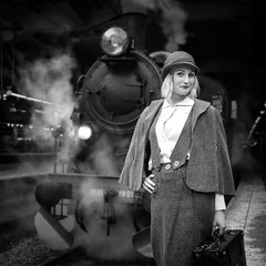 a step back in time 2 (Michael Erhardsson) Tags: travel woman train vintage retro blond backintime epok astepbackintime