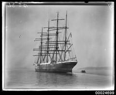 MAGDALENE VINNEN awaiting cargo in Sydney Harbour