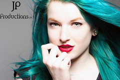 In the Studio (Jigsaw-Photography-UK) Tags: blue girl hair studio redlips jpproductionsuk