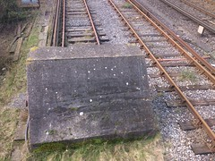 All Trains STOP (71B / 70F ( Ex Jibup )) Tags: wood abandoned overgrown neglect ties concrete rust track quiet crossing silent empty clips rusty rail railway line cast points infrastructure rails disused sleeper crossings ballast sleepers turnouts trackbed fastenings fishplates pandrol perminentway