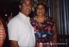 Con Catalina Tepihe Hotus, una maestra de la cultura Rapa Núi, lunes 11 de febrero de 2002.
