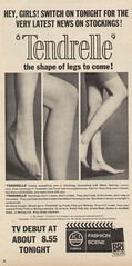 Tendrelle - 1967 (rchappo2002) Tags: stockings fashion advertising clothing 60s legs ad tights advertisement commercial advert 1967 hosiery 1960s pantyhose nylon 67 sixties nylons adverts tendrelle