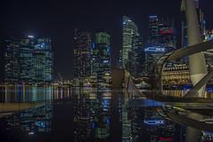 Rain Reflection (ckang69) Tags: city sunset reflection architecture marina sunrise lights bay singapore flickr cityscape centre esplanade getty bluehour financial fullerton mbs dbs ura baysand marinabayfinancialcentre