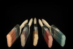 Paint brushes (le cabri) Tags: wood light cactus colors nikon paint dof 5 five brushes trigger strobe 2014 black d600 paint house martin strobist painting background photo cactusv5 brushes cauchoncabri vision:dark=081 vision:outdoor=0977