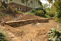 WM Mark Jurus 16, retaining wall, flat cap stones, dry laid stone construction, copyright 2014