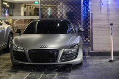 Blacked Out (BLACKFOXPHOTOGRAPHY) Tags: sexy speed grey singapore asia fierce extreme fast orchard racing trouble exotic german lovely audi supercar matte supercars r8 fastcars exoticars alexpenfold effspot sathyamelvani