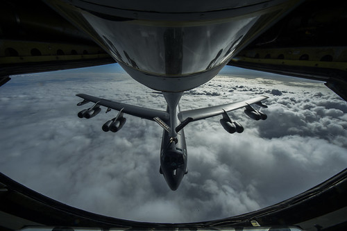 Refueling a B-52 Stratofortress