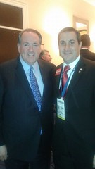 Joe Kaufman and Governor Mike Huckabee